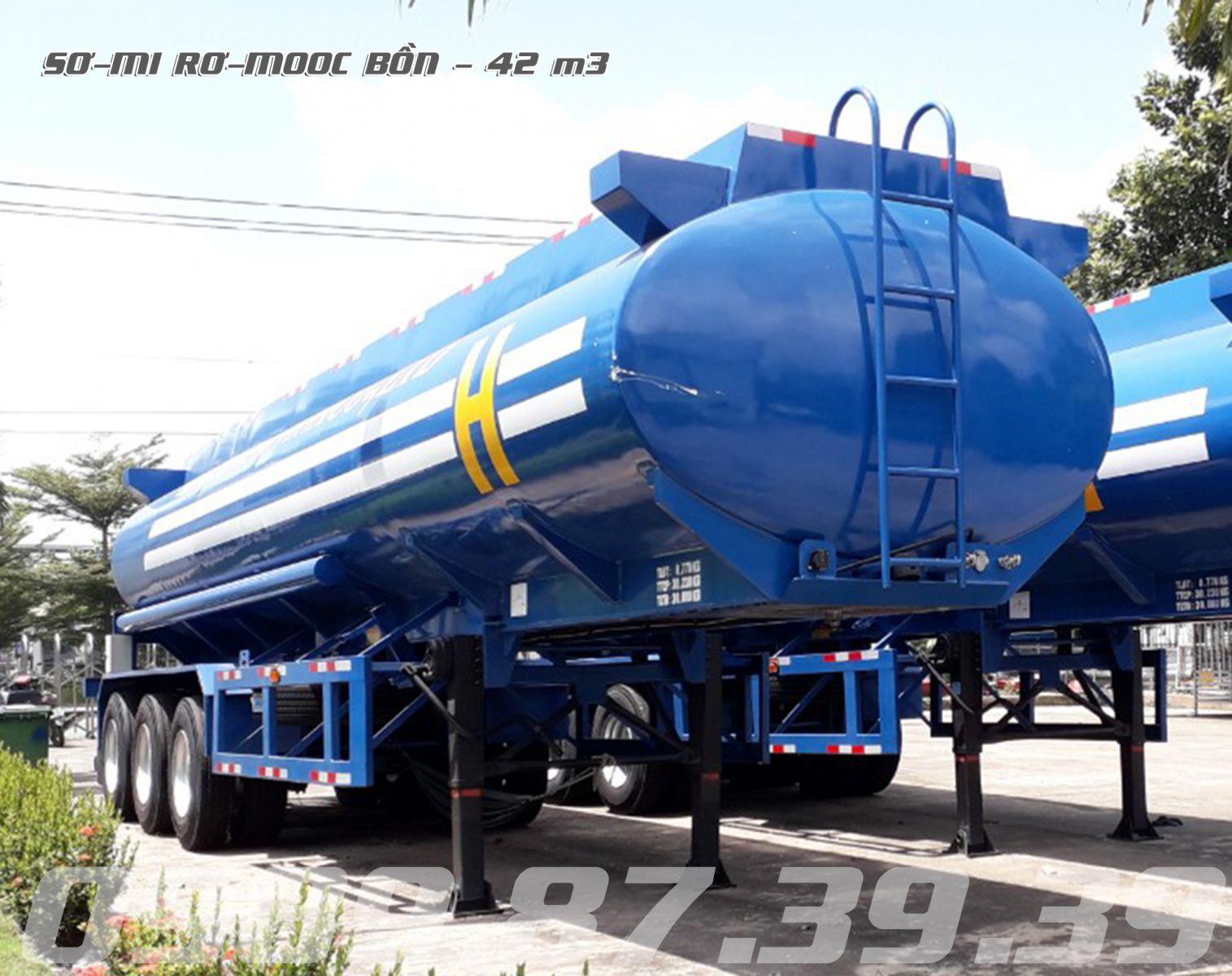 Rơ mooc bồn chở xăng dầu 42m3 khối