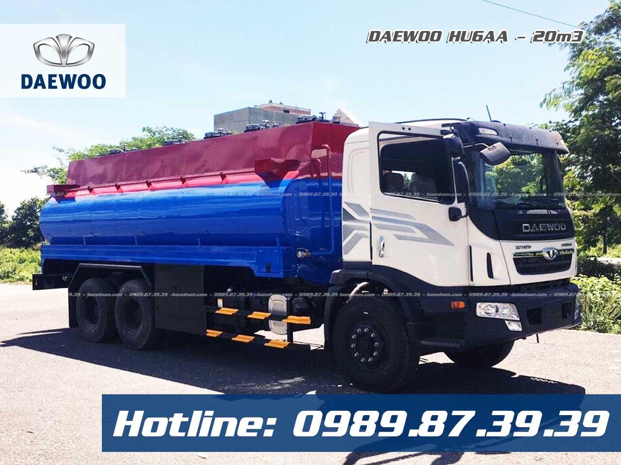 xe bồn chở xăng dầu 20m3 Daewoo