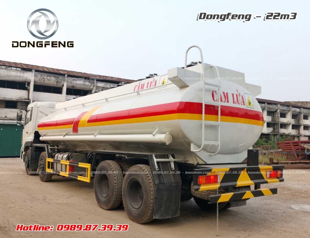 Xe bồn chở xăng dầu Dongfeng 4 chân 22m3 khối