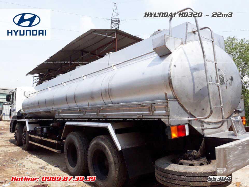 Xe bồn inox chở hóa chất Hyundai HD320 21m3 khối