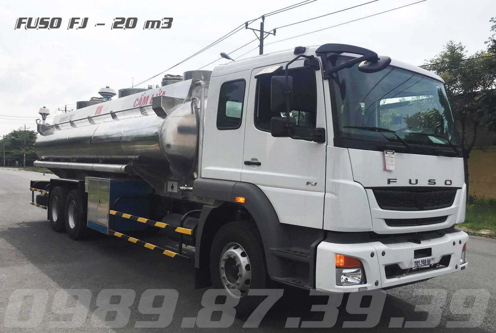 xe bồn chở xăng dầu 20 khối Fuso
