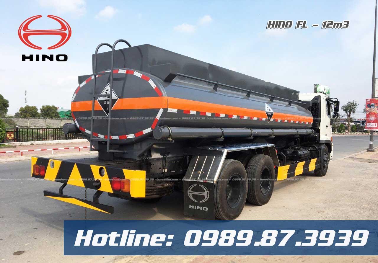 Xe bồn xitec chở axit H2SO4 14 khối Hino FL 14T