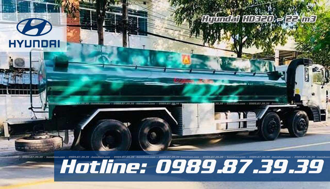 Xe chở xăng dầu Hyundai HD320 22 khối