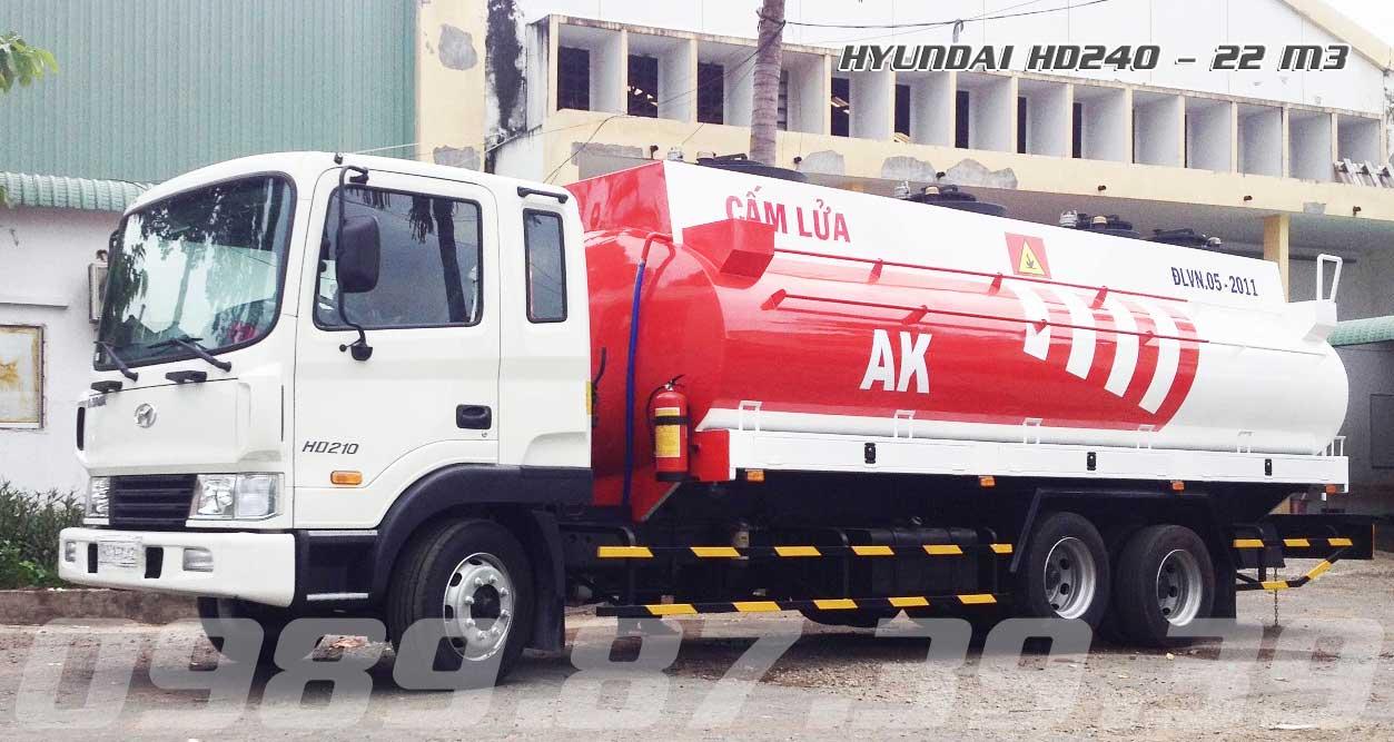 xe bồn chở xăng dầu 20 khối HD240