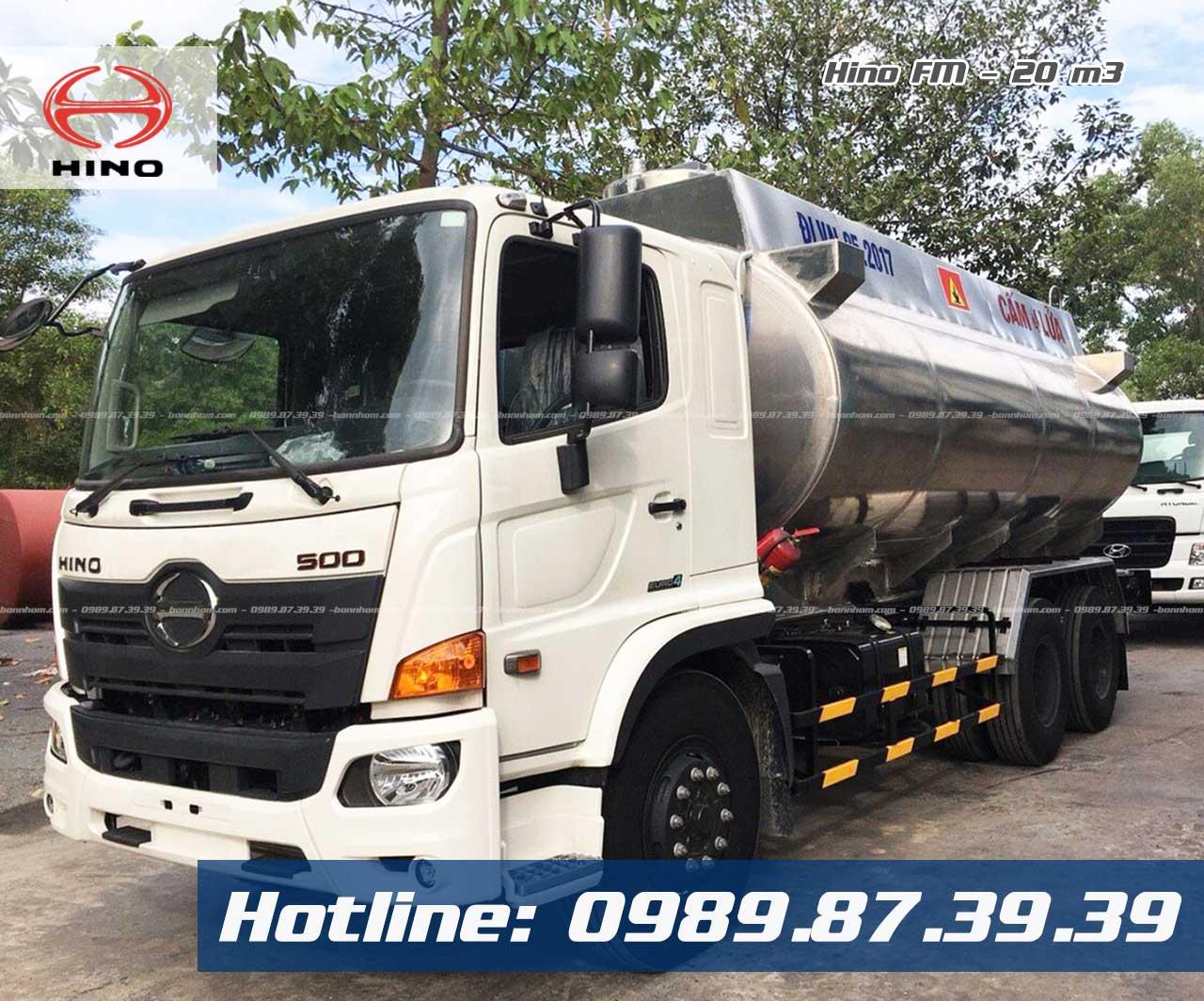 xe bồn chở xăng dầu 20 khối Hino FM
